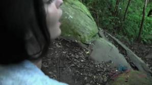 Emily fucks you in the woods, and you cum in her mouth!